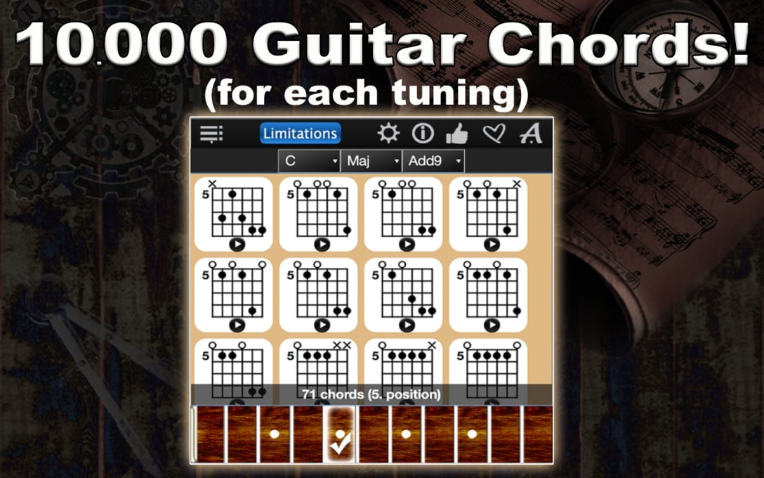 10.000 Guitar Chords! For each tuning.
