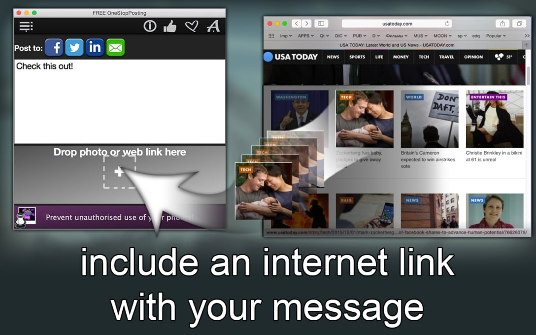 include an internet link with your message