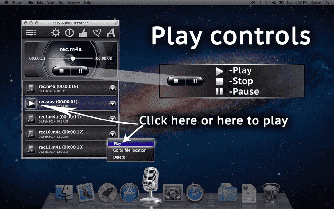 Play controls